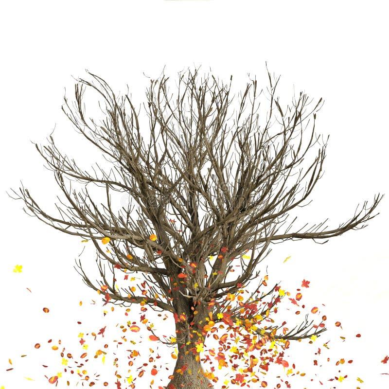 Trädnedgång stock illustrationer