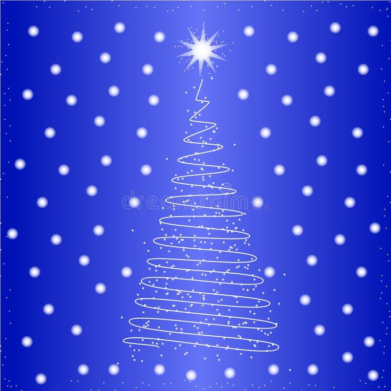 Trädsymbol för nytt år i färgen royaltyfri illustrationer