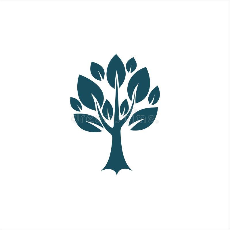 Trädsymbolsvektor Ilustration royaltyfri illustrationer