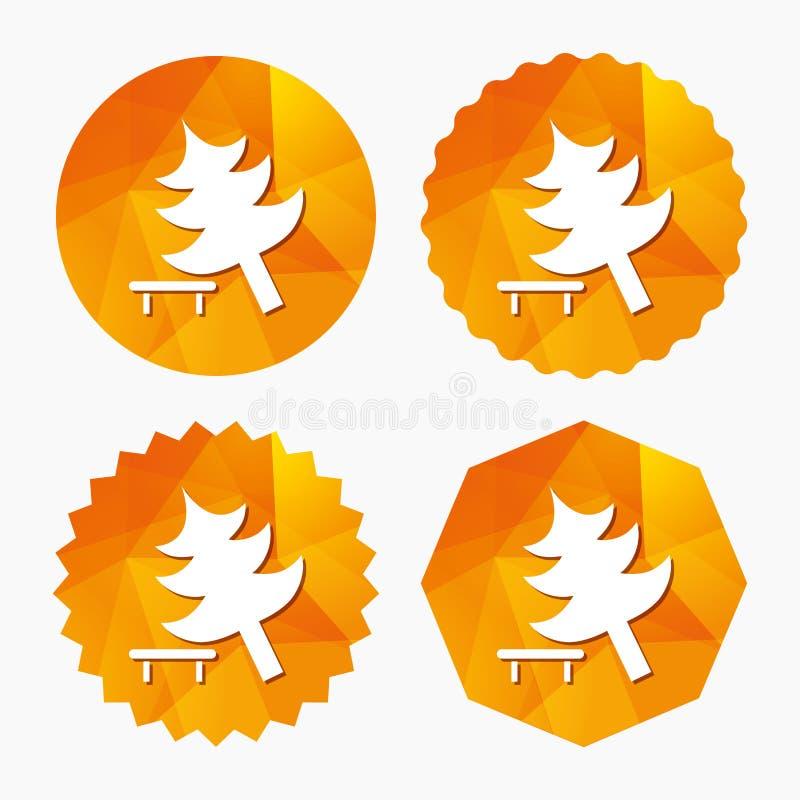 Trädteckensymbol För avbrott trädsymbol ner stock illustrationer