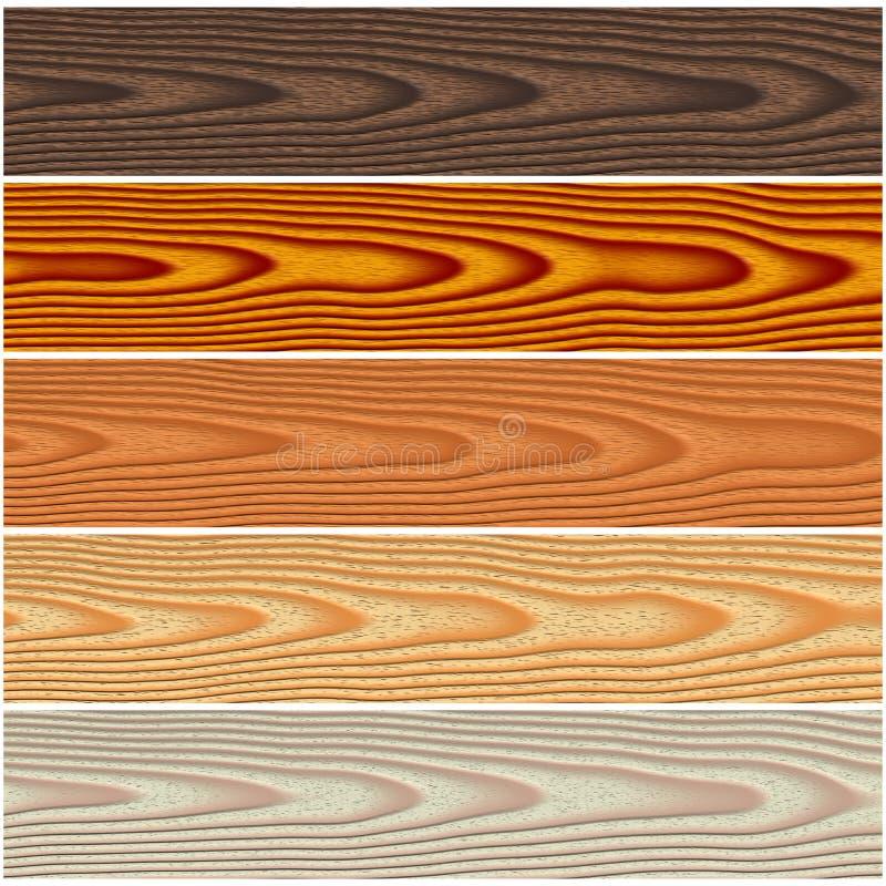Trädurkuppsättning vektor illustrationer