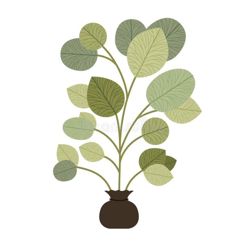 Trädväxt att odla den isolerade symbolen vektor illustrationer