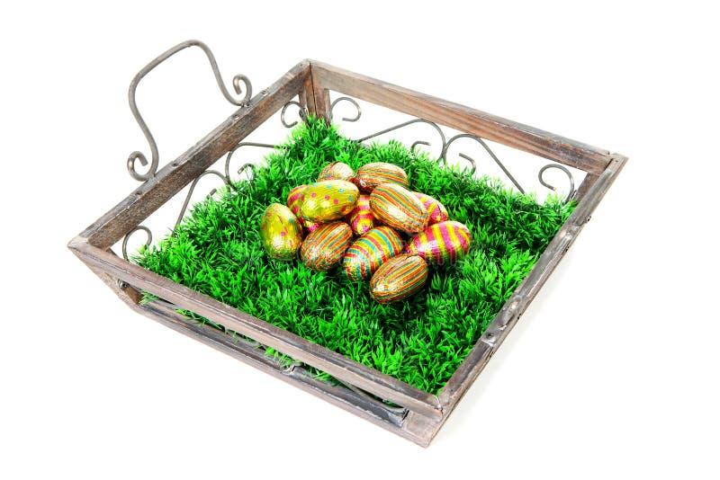 träeaster äggmagasin fotografering för bildbyråer