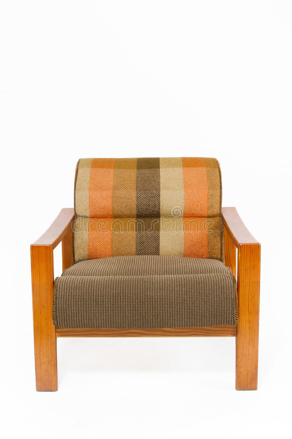 träfärgrik upholstery för fåtölj royaltyfria foton
