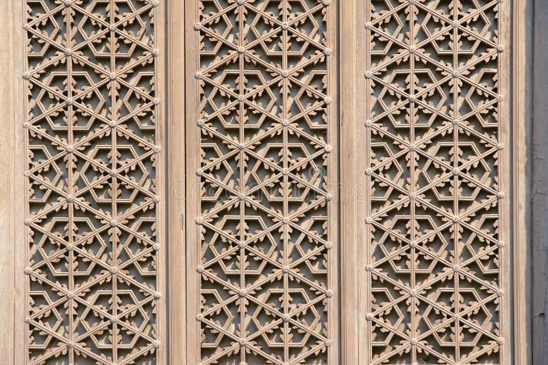 Träfönster royaltyfri bild