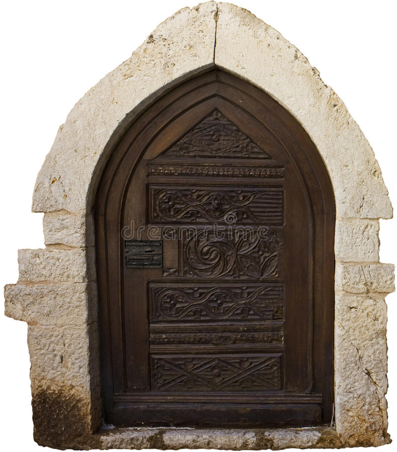 träforntida dörr royaltyfri fotografi