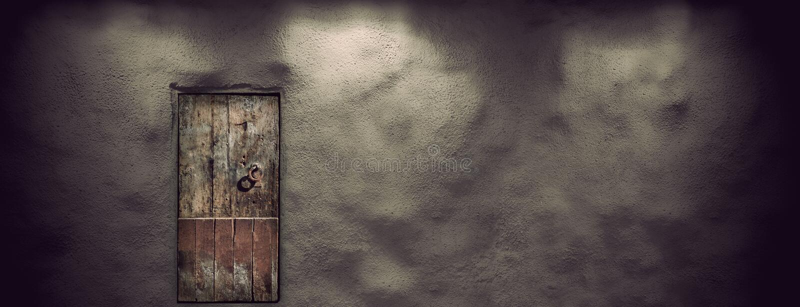 träforntida dörr arkivfoton