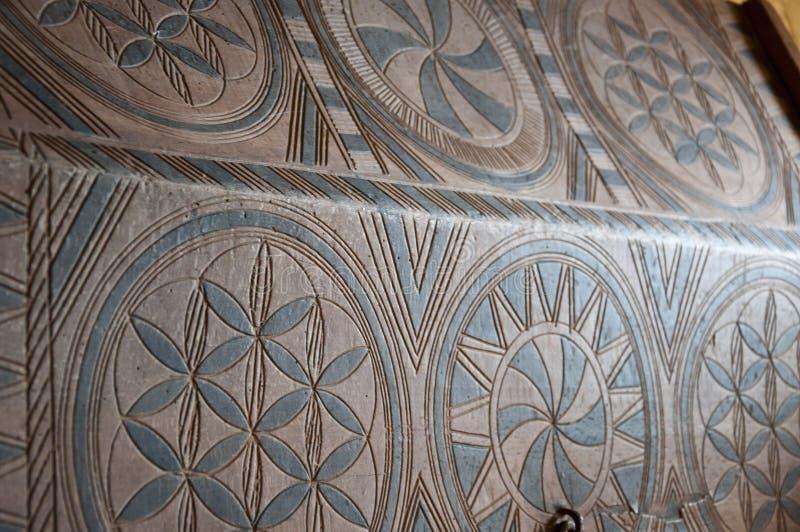 Trädekoration och trädesign Träskivor Bakgrund Trävlad deka Gammal dekorativ parquet Geometrisk royaltyfri bild
