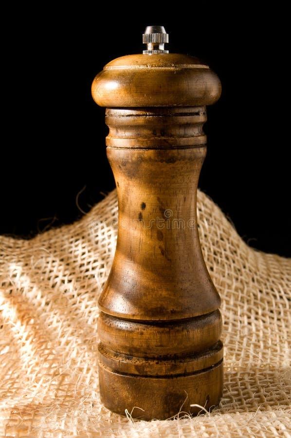 trägrinderpeppar royaltyfri foto