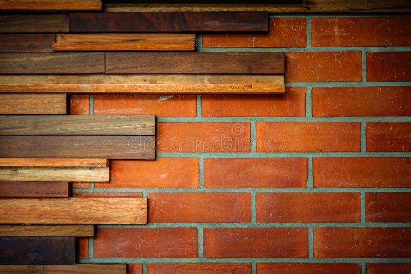 Trägrunge och indo för stil för backgrund för vägg för röd tegelsten industriell royaltyfri foto
