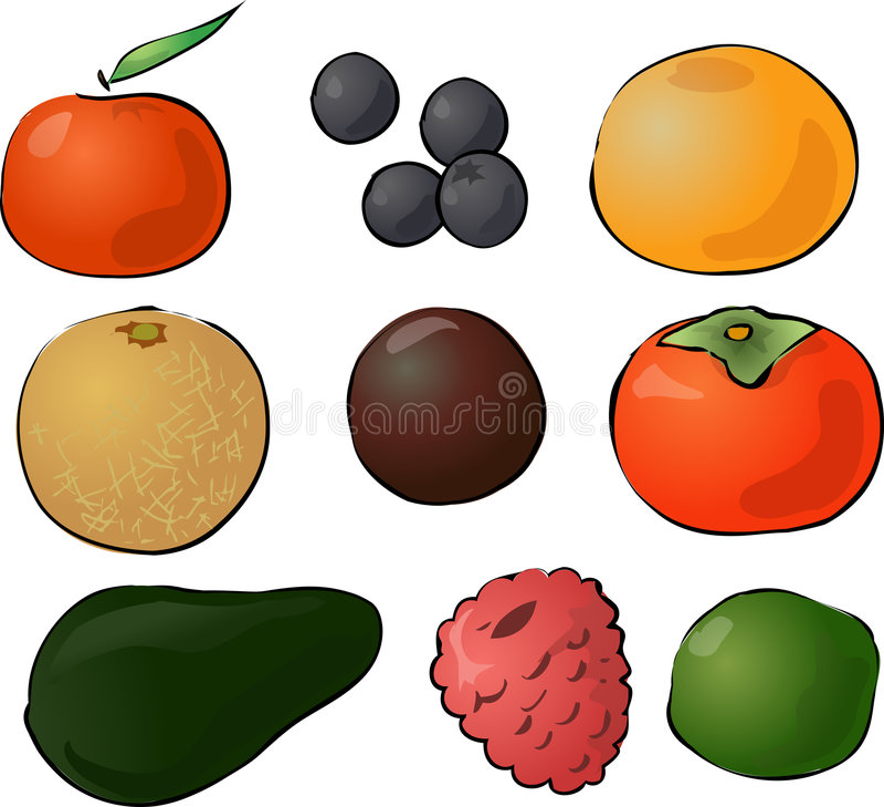 Trägt Abbildung Früchte stock abbildung