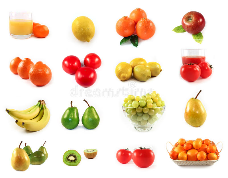 Trägt die getrennte Ansammlung Früchte lizenzfreie stockfotografie