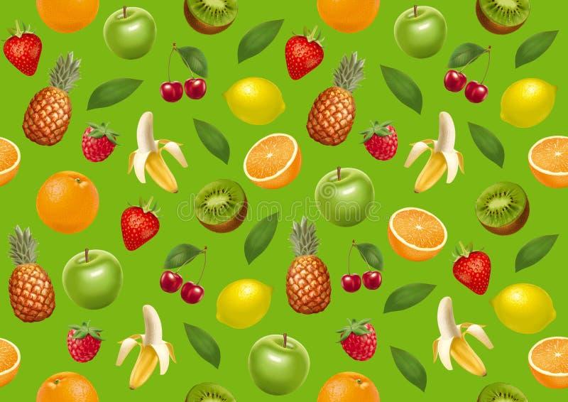 Trägt endloses bacground Früchte Grüne Version lizenzfreie abbildung