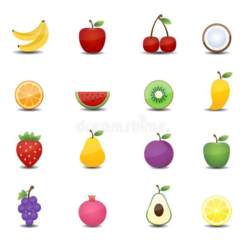 Trägt Ikonen Früchte lizenzfreie abbildung