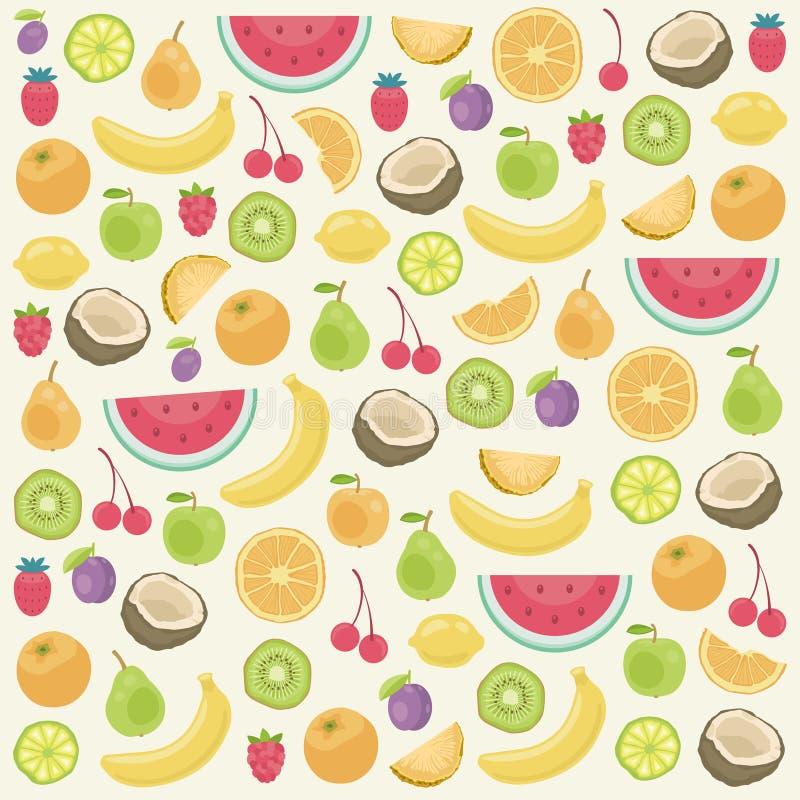 Trägt nahtloser Hintergrund Früchte stock abbildung