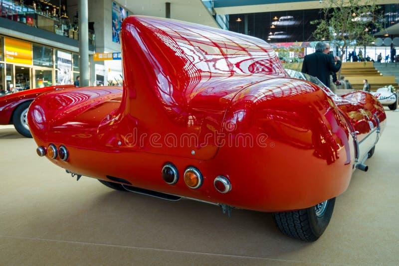 Trägt Rennwagen Lotus Eleven Stanguellini, 1957 zur Schau stockbild