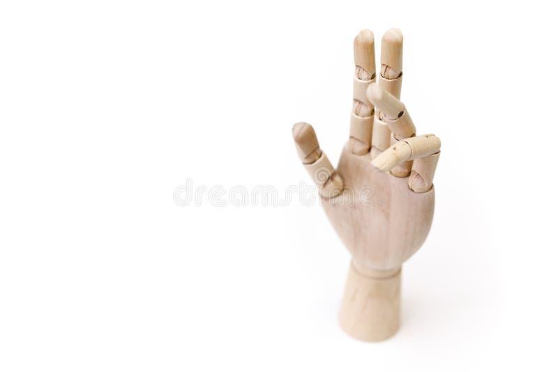 Trähänder med gest arkivbilder