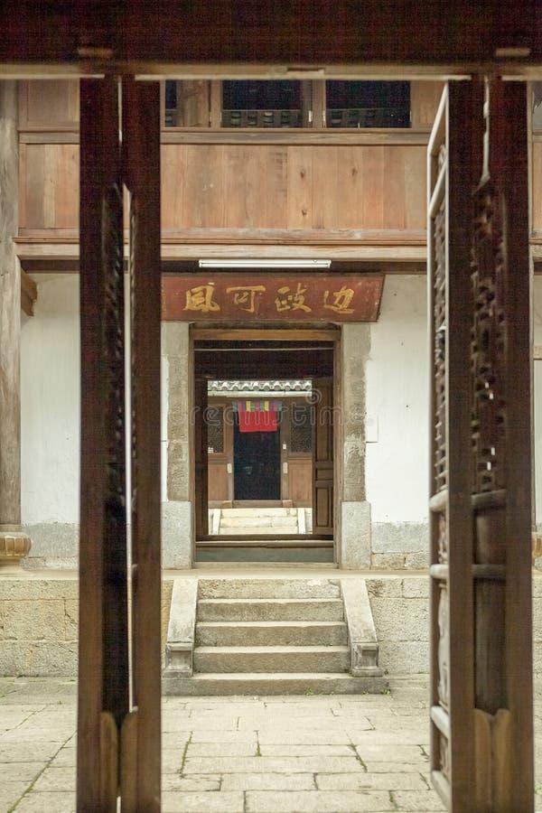 Trähus för härlig arkitektur, Vuongs husslott arkivbilder