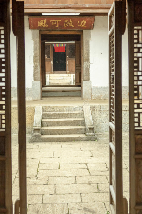 Trähus för härlig arkitektur, Vuongs husslott arkivbild