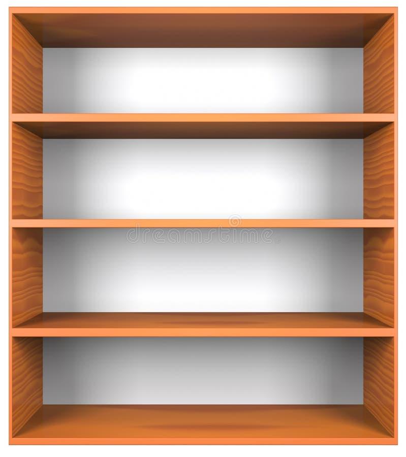 Trähyllor stock illustrationer