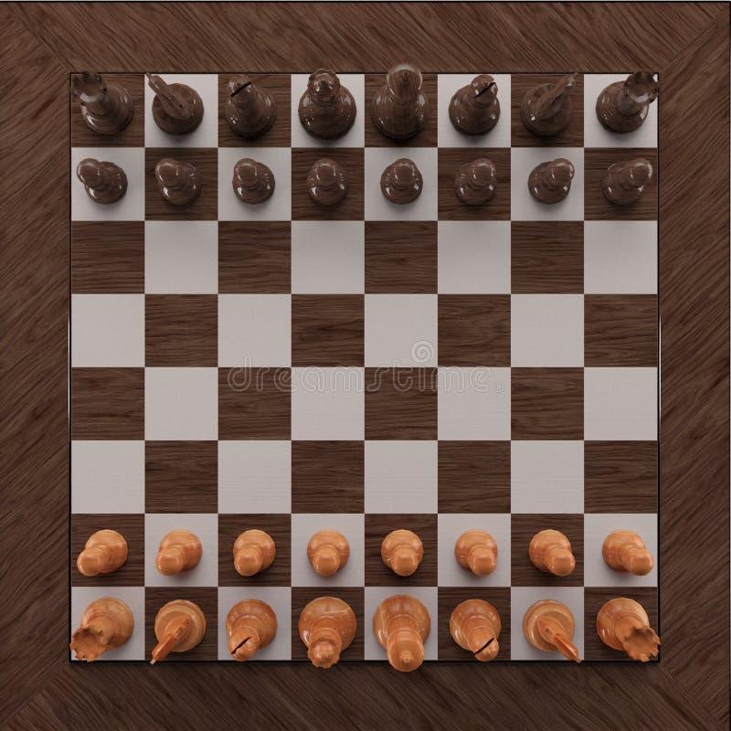 Träillustration för schack 3d fotografering för bildbyråer