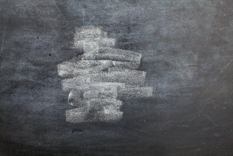 Träinramat nedsmutsat för tom svart tavla royaltyfria bilder