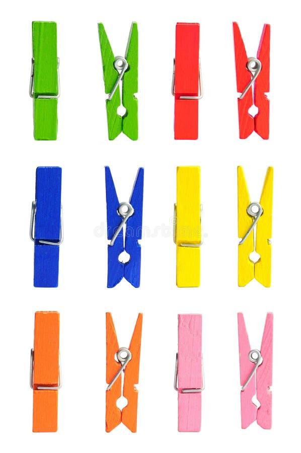 Download Träkläderfärgstift arkivfoto. Bild av naturligt, orange - 19778334