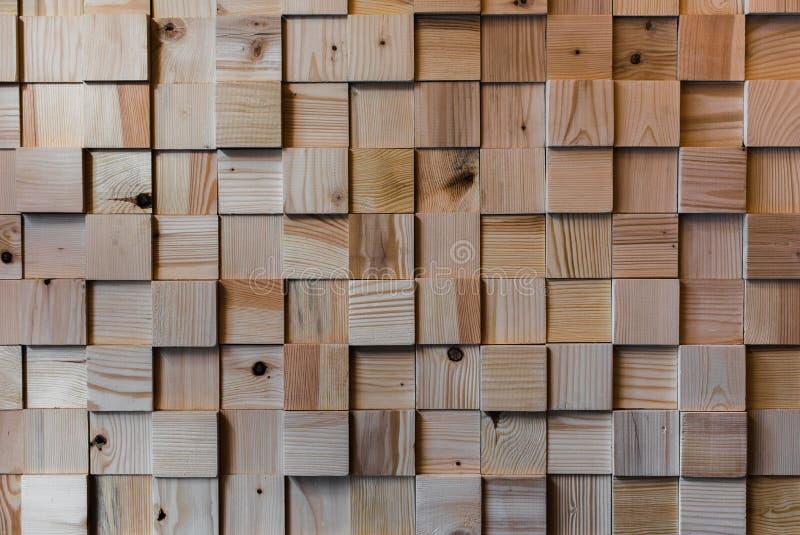 Träkvadrerad golvtextur Interesing mönstrar tätt upp fotografering för bildbyråer