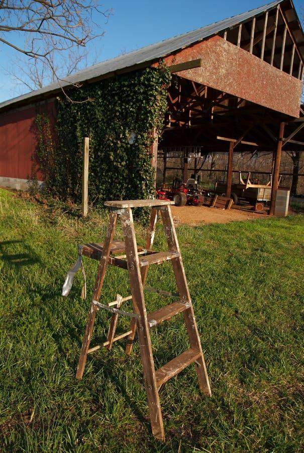 träladugårdgrässtege fotografering för bildbyråer
