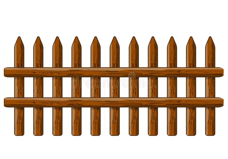 Trälantligt staket royaltyfri illustrationer