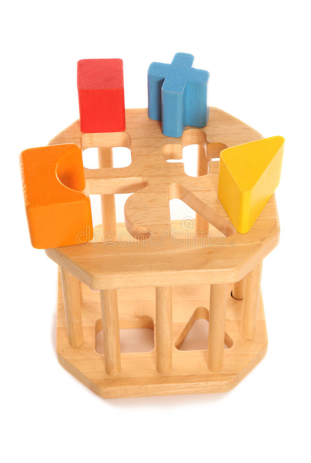 Download Träleksak För Childsformsorterare Arkivfoto - Bild av isolerat, spädbarn: 76704230