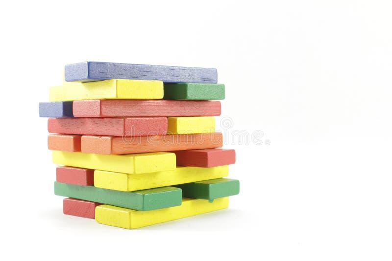 Träleksaker eller Toy Blocks royaltyfria bilder
