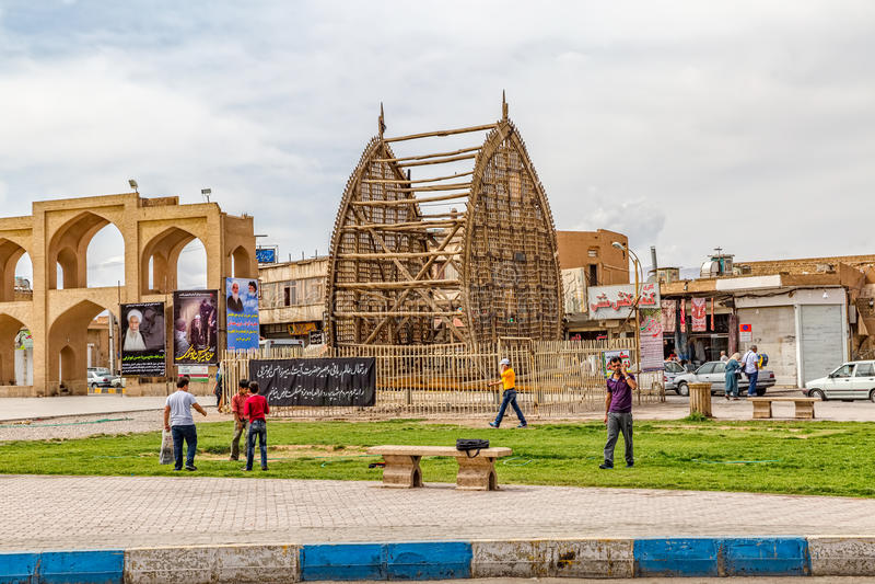 Tränakhl i Yazd vid dag royaltyfri foto