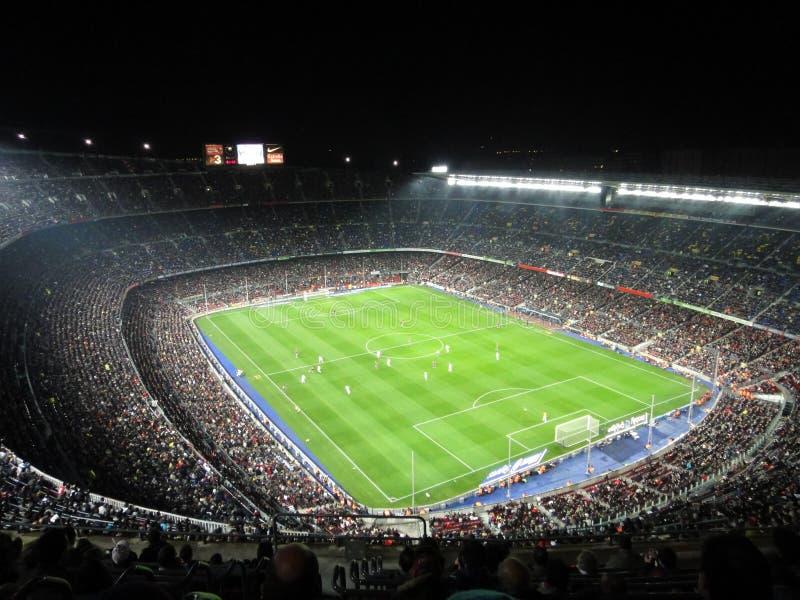 Trängd ihop FC Barcelonastadion, Spanien arkivbild