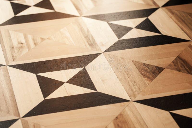 Träparkettdesign, geometrisk modell royaltyfria bilder