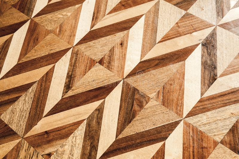 Träparkettdesign, geometrisk modell royaltyfria foton