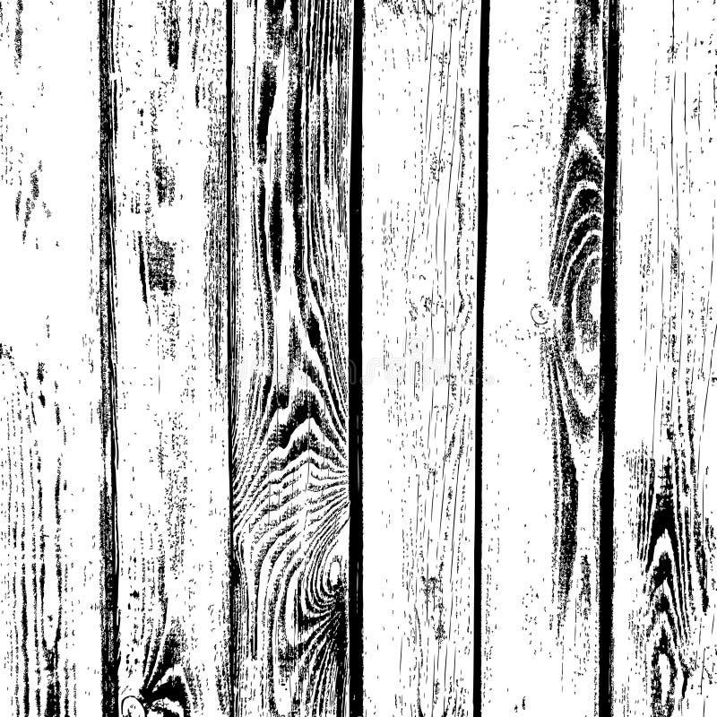 Träplankavektortextur Gammalt wood korn texturerad bakgrund royaltyfri illustrationer