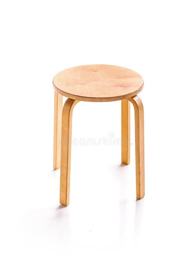 Trärund stol för hem- garnering arkivbild