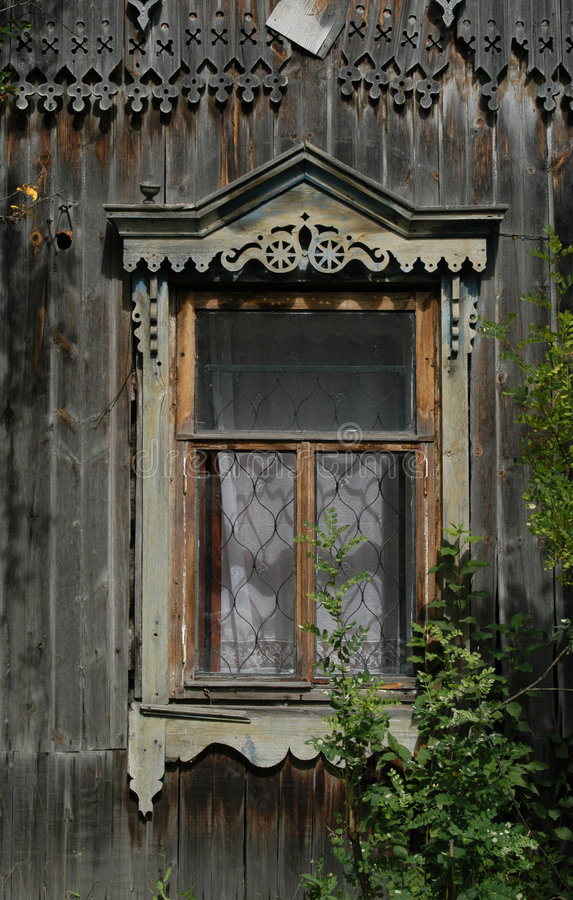 träryssfönster royaltyfria bilder
