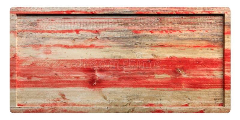 Träskylt med ramen som isoleras på vit bakgrund illustration 3d stock illustrationer