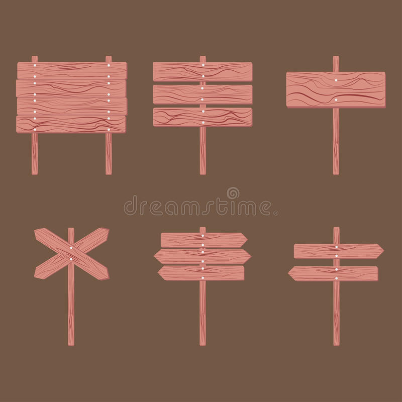 Träskyltpil vektor illustrationer
