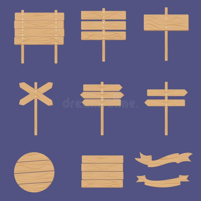 Träskyltpil royaltyfri illustrationer