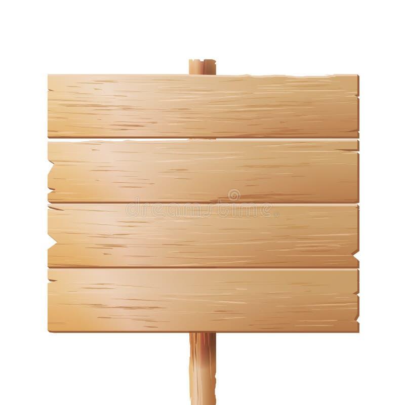 Träskyltvektor Wood teckenbräde som isoleras på vit bakgrund vektor illustrationer