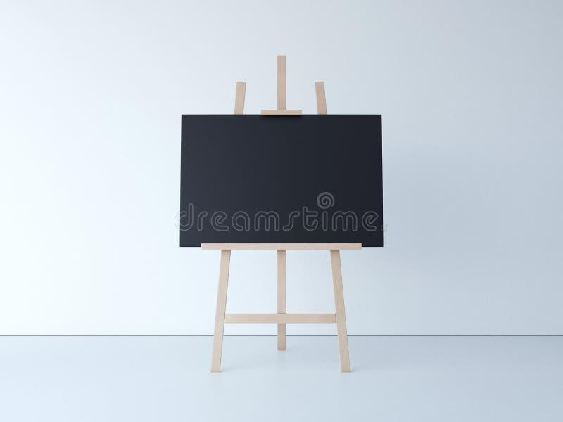 Download Trästaffli Med Mellanrumssvartkanfas Framförande 3d Arkivfoto - Bild av färg, genre: 76703520
