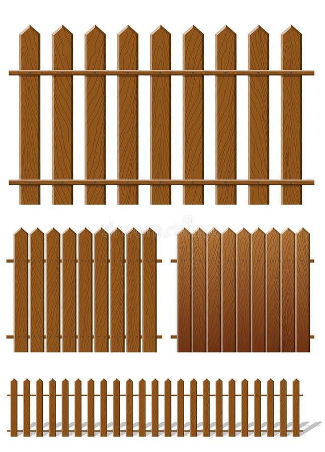 trästaket vektor illustrationer