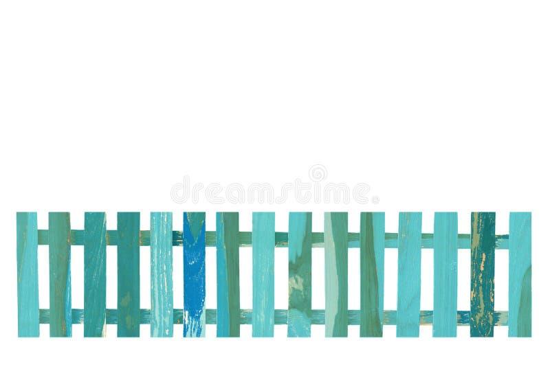 Trästaketisolat på den vita bakgrunden arkivbild