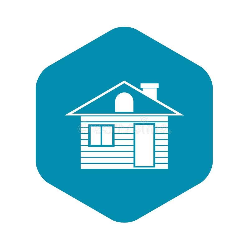 Träsymbol för journalhus, enkel stil stock illustrationer