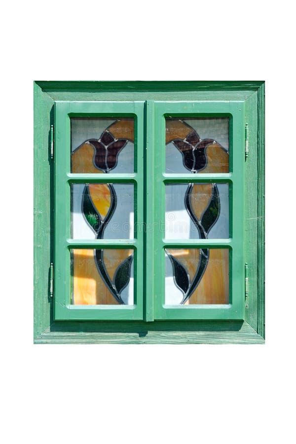trätappningfönster arkivbild