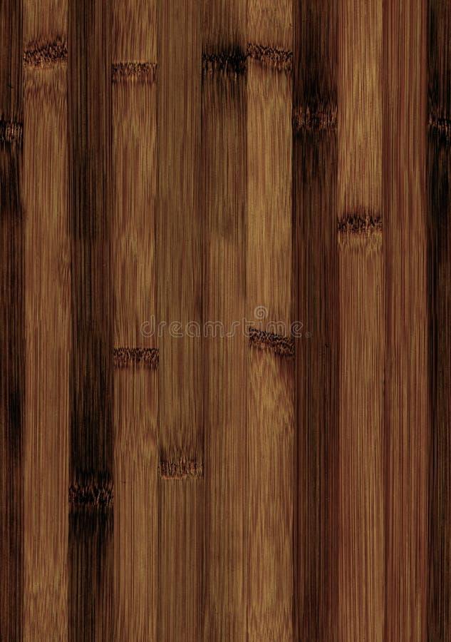 Trätextur för sömlös bambu royaltyfri bild