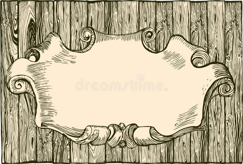 trätom planka vektor illustrationer